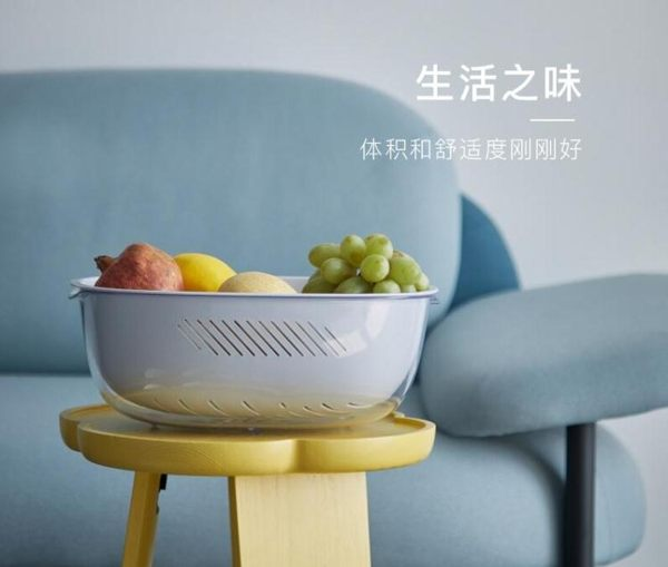 水果盤洗菜盆瀝水籃水果盆水果盤客廳家用創意菜籃廚房用品工具神器百貨 晴天時尚館