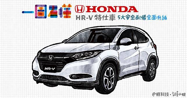 一圖看懂 Honda HR-V安全配備大升級特仕款