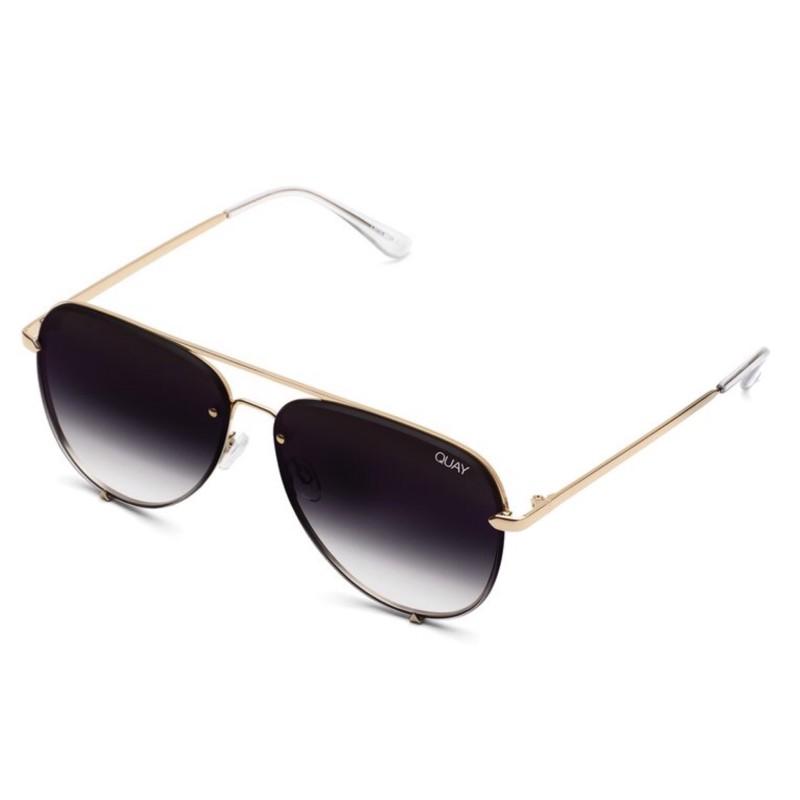 Quay 太陽眼鏡 - High Key RIMLESS迷你系列墨鏡 (金/漸層黑)