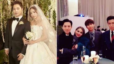 久違的同框!BIGBANG成員 TOP、GD、大聲「西裝筆挺」在太陽婚禮合體!