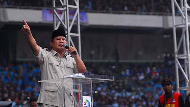 Prabowo pidato di GBK dalam rangka May Day