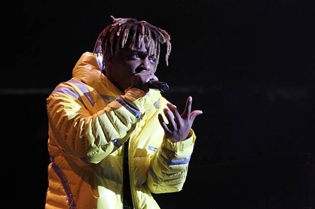 In this file photo taken on October 28, 2018 Rapper Juice Wrld performs at Power 105.1's Powerhouse 2018 at Prudential Center in Newark, New Jersey.