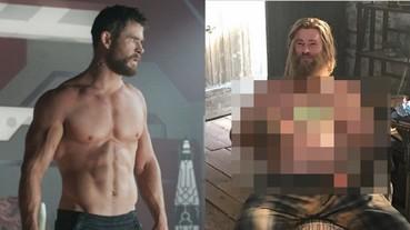 有雷慎入!《復仇者聯盟4》雷神索爾獨家幕後照片曝光 網友笑翻:原本的肌肉男神變了樣!