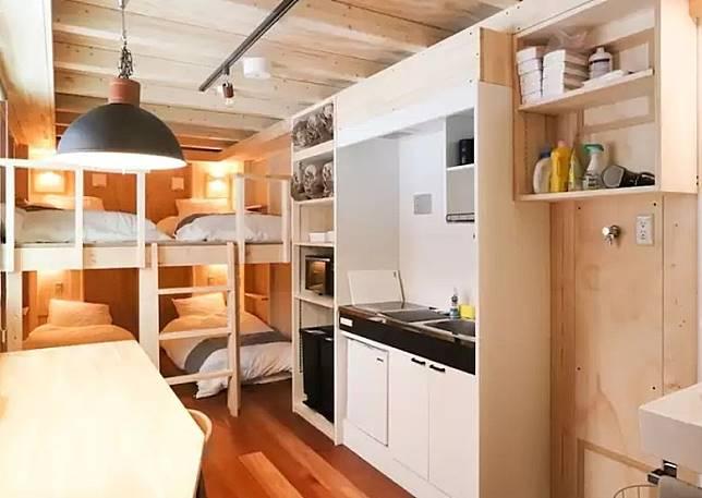 房子最多可供6人入住,內設廚房及洗衣機,像個窩心小居。(互聯網)
