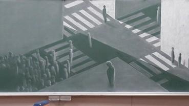 日本舉辦畫黑板大賽 學生用粉筆畫出「畢業的十字路口」!