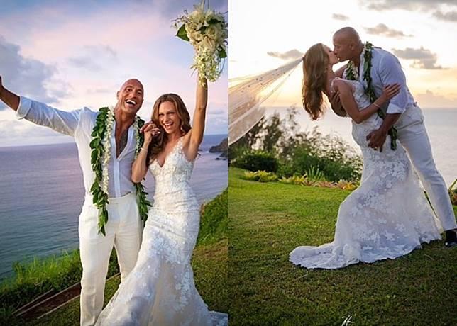 狄維莊遜與女友Lauren Hashian在家鄉夏威夷舉行婚禮。