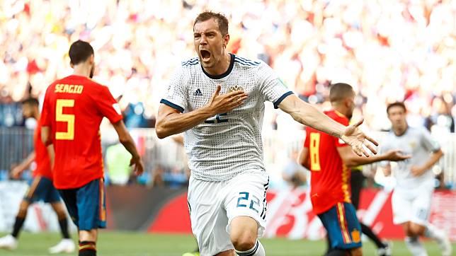 Lewat Adu Penalti, Rusia Tendang Spanyol
