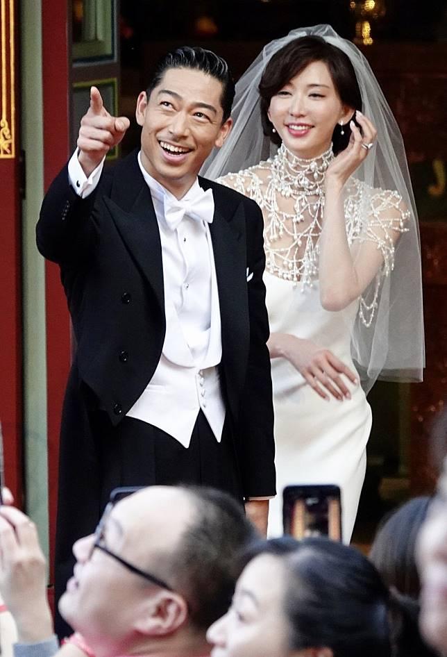 林志玲與AKIRA完成世紀婚禮,在全臺吳氏大宗祠進行婚禮儀式。記者林伯東/攝影