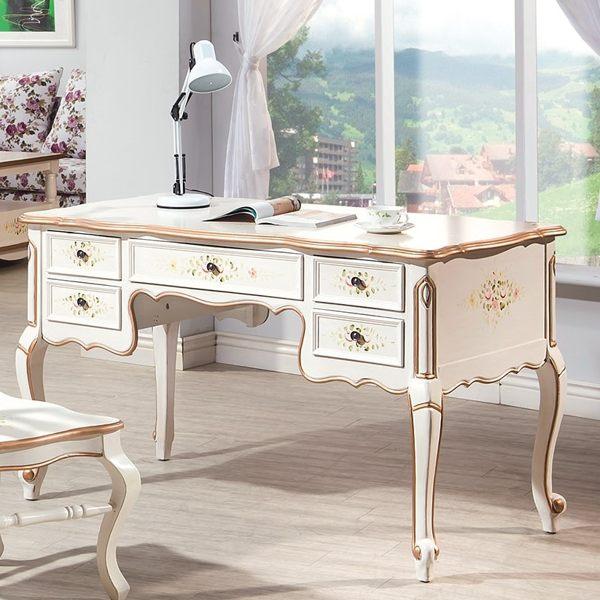 OB004-伊麗莎白歐式4.6尺書桌(19HY2/B484-01)【DD House】