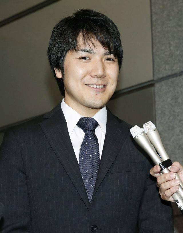 Kei Komuro. (Foto: Fumine Tsutabayashi/Kyodo News via AP)