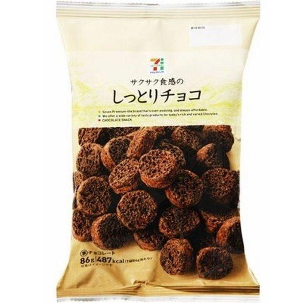 日本7-11【7-PREMIUM】濃厚巧克力一口酥 86g