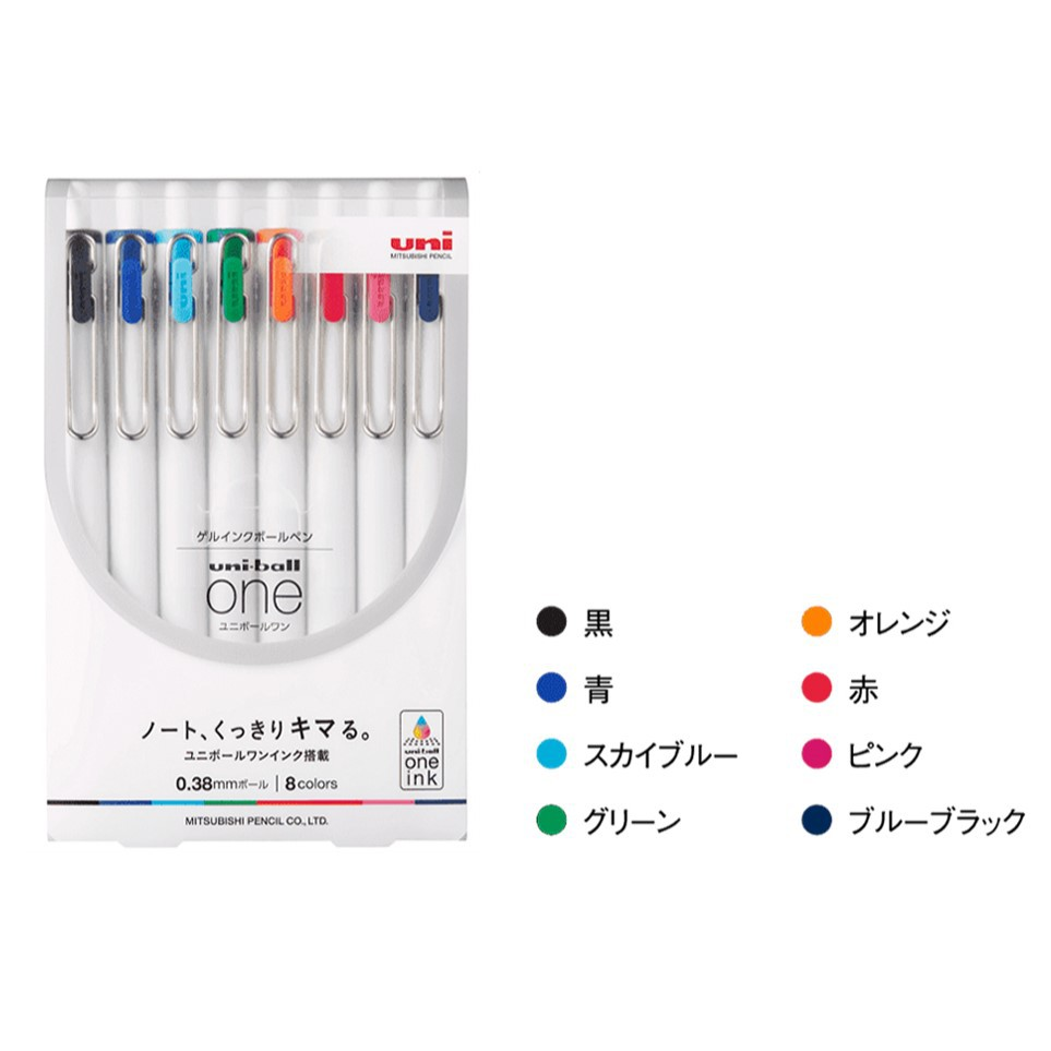 ✰CHL✰ UNI 三菱 uni-ball ONE 中性筆 0.38mm系列 STA-UMNS-0.5●規格: 軸徑約10.5mm / 最大徑約15mm / 長約139.5mm●重量:約9.6g●具有