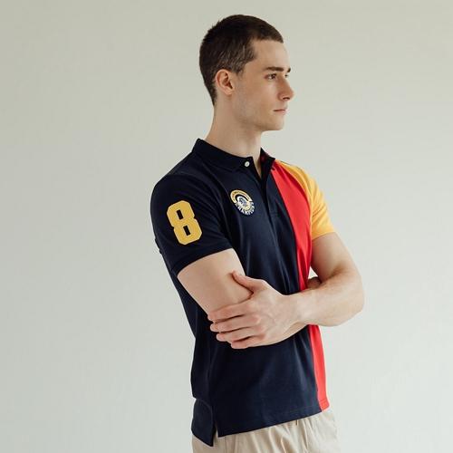 -含萊卡彈性纖維,質感佳,舒適好穿-領下撞色圖樣,可做翻領造型-經典polo衫版型,各種場合皆適穿材質:97%棉 3%萊卡®彈性纖維#GIORDANO #男裝 #Champion #撞色 #POLO衫