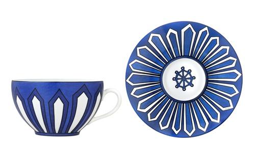 青花瓷、瓷器、餐具、HERMÈS法國愛馬仕、Arielle de Brichambau