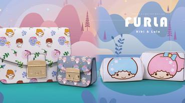 FURLA x 「雙星仙子Kiki&Lala」聯名包款上市,花卉小牛皮包款只在遠百A13獨賣!