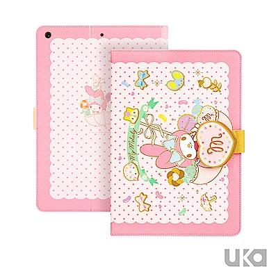 三麗鷗 iPad mini2019/5 7.9吋Kitty系列可立式磁扣保護套 糖果美樂蒂