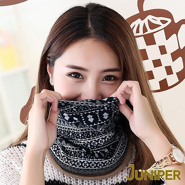 多種戴法可任意搭配n保暖舒適, 彈性極佳n整個套頭下拉至頸部還可當圍巾使用