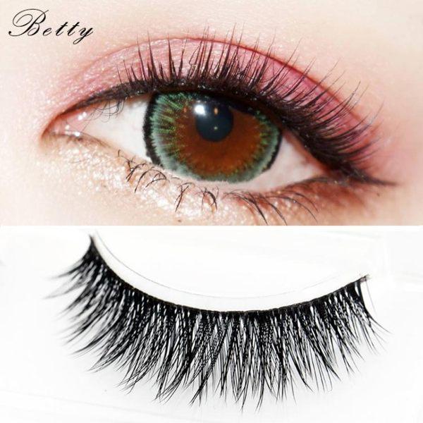 假睫毛 假睫毛濃密3D多層舞臺妝歐美芭比眼硬梗黑梗可撐雙眼皮 眼中加長