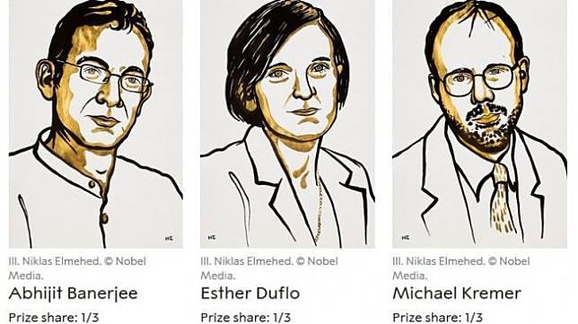 Tiga peraih Nobel Ekonomi 2019 diumumkan Senin (14/10/2019). [Nobelprize.org]