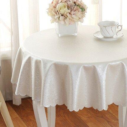 酒店桌布 防水防油免洗防燙圓桌餐藝北歐歐式桌墊家用圓形臺布『CM1332』