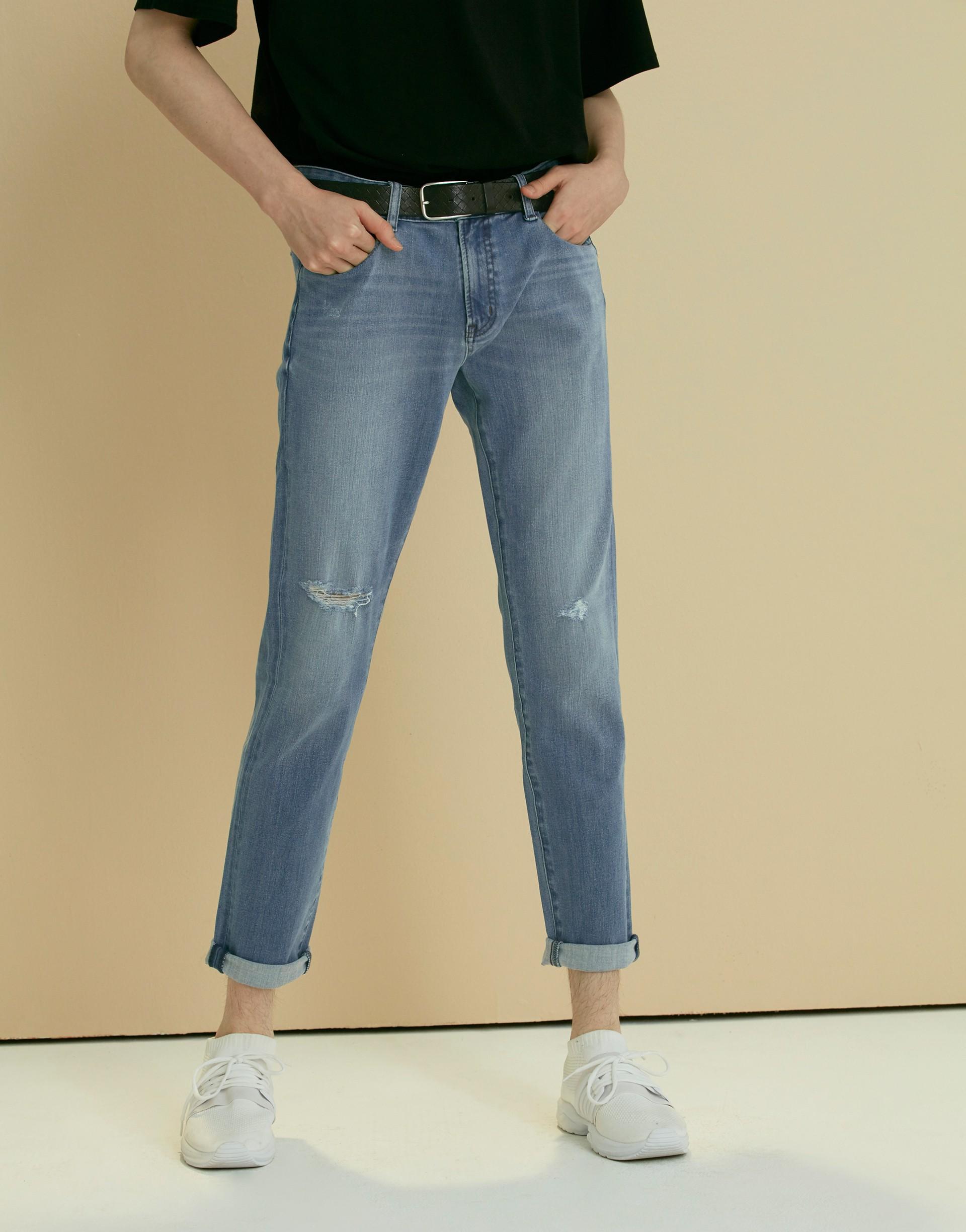 彈性:微彈 版型:適中 布料彈性舒適、洗水小破壞設計