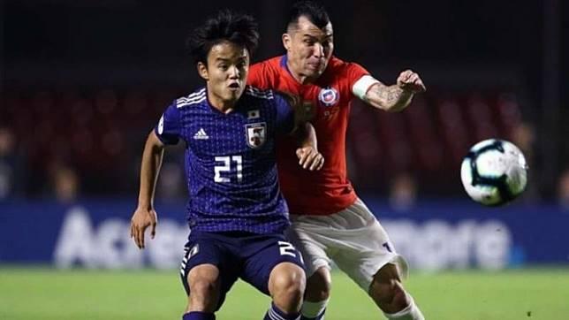 Duel Timnas Jepang vs Chile di Copa America 2019.