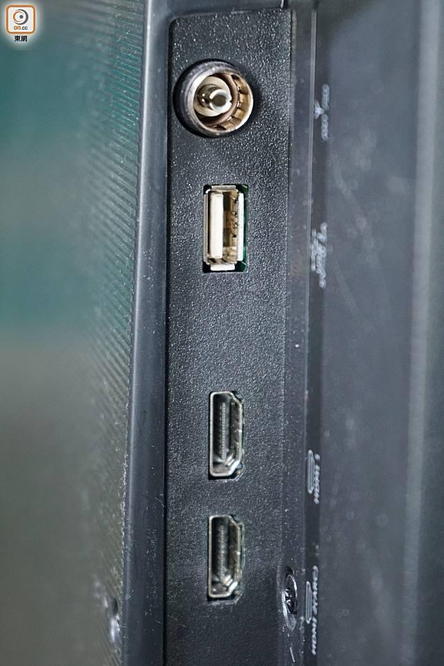 能透過USB接駁,直讀影片、相片及音樂等多媒體檔案。(莫文俊攝)