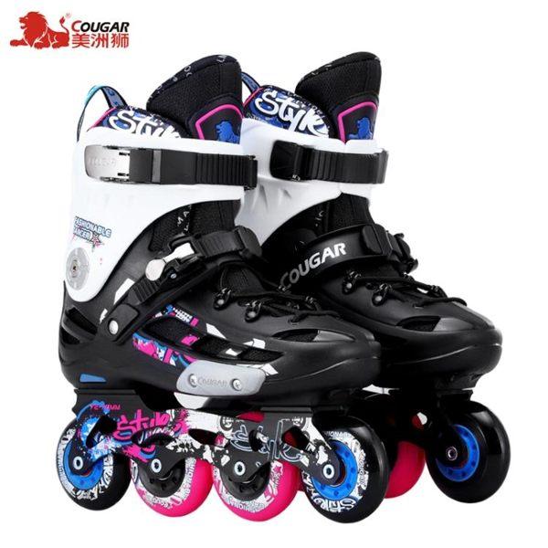食尚玩家 美洲獅成人平花鞋男女式直排輪滑鞋學生社團專用溜冰鞋旱冰鞋滑冰