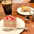 ケーキセット - 実際訪問したユーザーが直接撮影して投稿した新宿自然食・薬膳CHAYA Macrobi(チャヤ マクロビ)伊勢丹新宿店の写真のメニュー情報