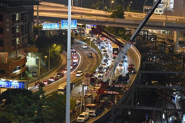 紅隧往香港方向嚴重擠塞