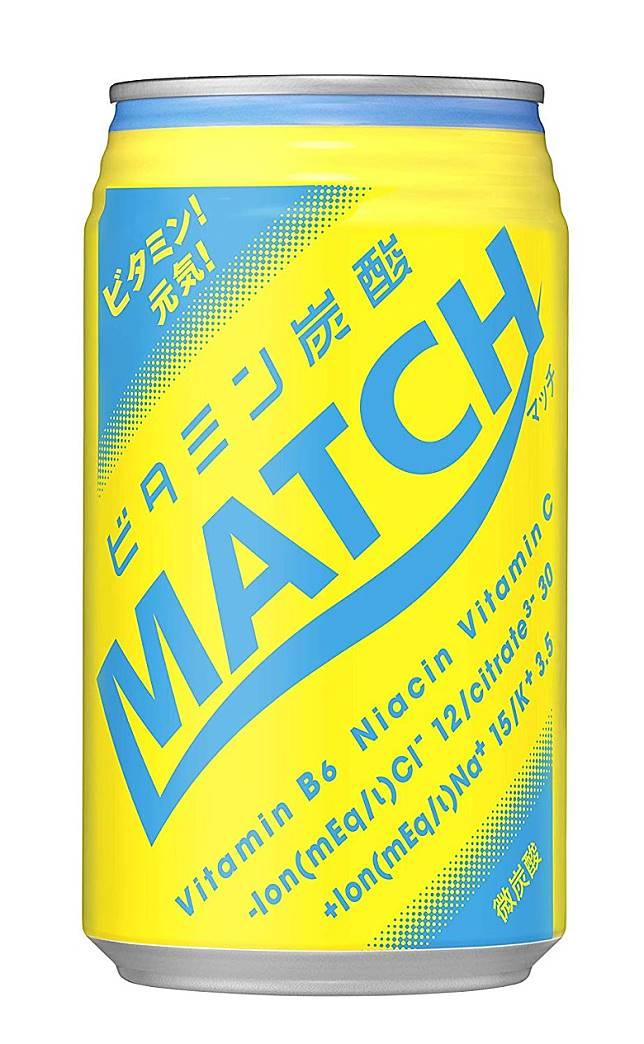 排19位的Match標榜為維他命的碳酸飲品,適合運動後飲用。(互聯網)
