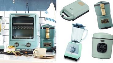 全聯集點推出「馬卡龍綠」復古個人家電!夢幻外宿小窩必收,日本TOFFY小電鍋、熱壓土司機這就搶起來
