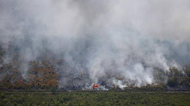A wooden hut burns due to a forest fire in Palangka Raya, Central Kalimantan province, Indonesia, September 14, 2019. Indonesia and neighbouring countries in Southeast Asia are regularly hit by smoke from slash-and-burn clearances of forests for farms and palm oil plantations, but conditions this year have been the worst since 2015 due to an El Nino weather pattern causing an extended dry spell. REUTERS/Willy Kurniawan