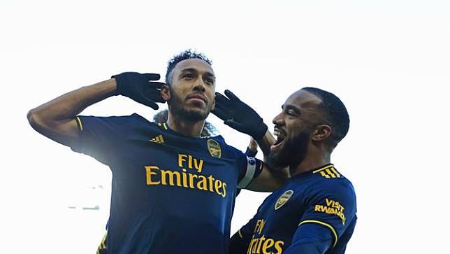 Striker Arsenal, Pierre-Emerick Aubameyang (LINDSEY PARNABY / AFP)