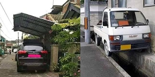 Parkir ala orang Indonesia (Twitter/catperku)