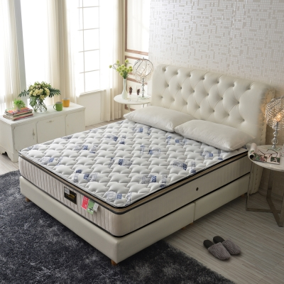 Ally愛麗 厚三線天絲棉-乳膠硬式獨立筒床-單人3.5尺