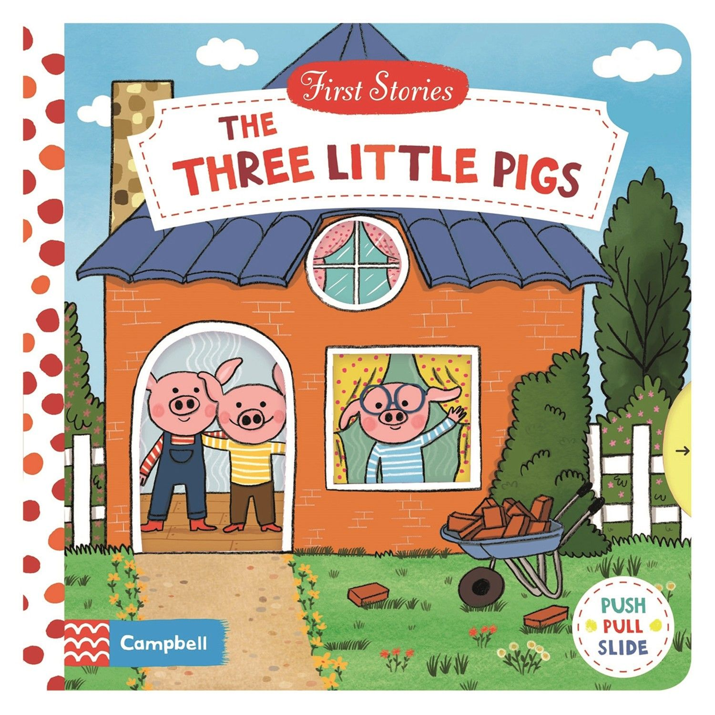 Macmillan - First Stories 操作硬頁書-The Three Little Pigs 三隻小豬-彩色