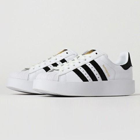 【現貨】Adidas Superstar 白色 金標 厚底 增高鞋 范冰冰 女 BA7666《CLASSICK》