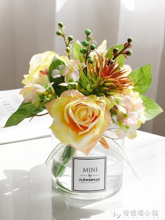 ins模擬花束客廳擺設花裝飾假花模擬玫瑰花客廳餐桌花藝擺件 ATF