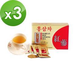金蔘-6年根韓國高麗紅蔘茶(50包/盒)共3盒
