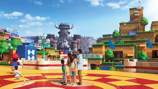 園內有多個驚險遊樂設施、互動體驗區等設施,會讓人有置身瑪利奧遊戲情景的感覺。(互聯網)
