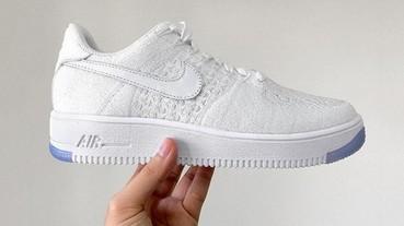 首次曝光!Nike Air Force 1 Flyknit 「White/Ice」配色低筒版!