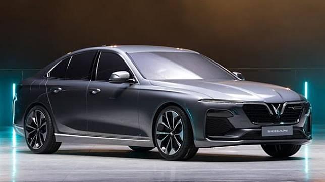 Sedan buatan Vinfast, merek mobil nasional Vietnam. [www.vinfast.vn]
