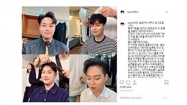 Yoo Jae Hwan setelah berat badan turun (Instagram/Sound789)