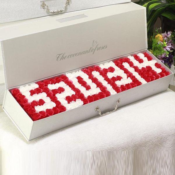 情人節禮物七夕情人節禮物送女友浪漫生日禮物女朋友肥皂香皂花束禮盒玫瑰花 wy