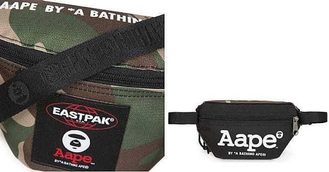 袋款正面印有兩個品牌標誌的布章,袋頂及腰帶亦加入AAPE字樣及Moon Face圖案刺繡,背面亦有隱藏式拉鏈口袋方便收納電話及銀包等貴重隨身物。(互聯網)
