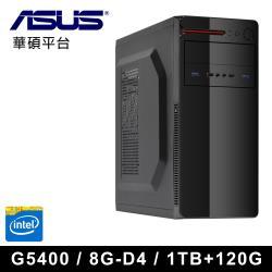 ∣華碩H310平台∣ 第八代 Intel G5400雙核 8G-D4記憶體 SSD120G超值主機VII