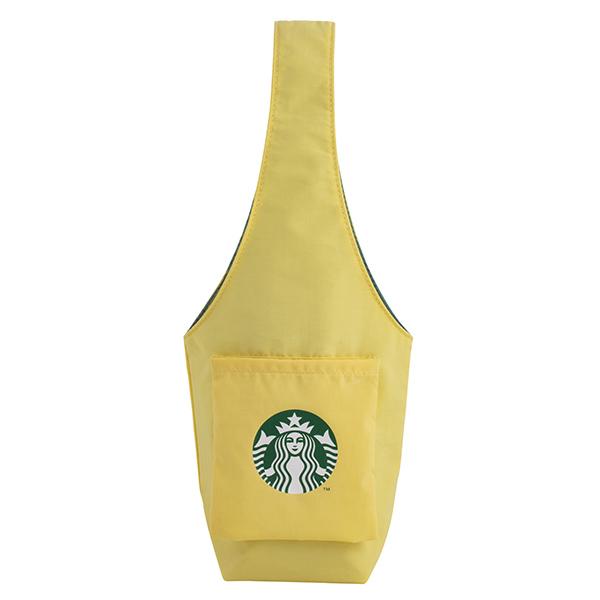星巴克甜蜜黃可收納杯袋 【康是美】
