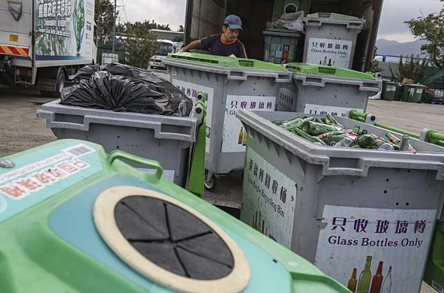 Is ban on glass bottle recycling and collection points part of Hong Kong government's plan to deprive protesters of materials for petrol bombs?