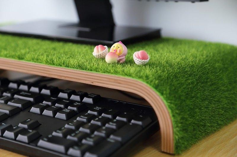 【歐士OSHI】輕草地螢幕架 辦公室收納 實木 快速出貨 聖誕節